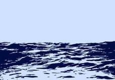 Τοπίο θάλασσας με τα μεγάλα κύματα ελεύθερη απεικόνιση δικαιώματος