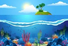Τοπίο θάλασσας διανυσματική απεικόνιση