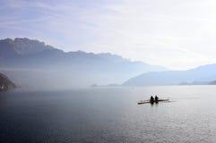 Τοπίο λιμνών του Annecy στη Γαλλία Στοκ Εικόνες