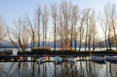 Τοπίο λιμνών του Annecy στη Γαλλία Στοκ Φωτογραφία