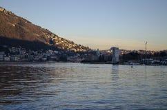 Τοπίο λιμνών Como στοκ εικόνες