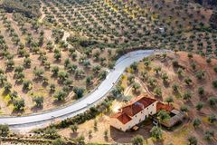 τοπίο Ισπανία χωρών Στοκ φωτογραφία με δικαίωμα ελεύθερης χρήσης
