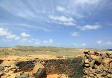 τοπίο και μπλε ουρανός ερήμων πετρών Στοκ εικόνες με δικαίωμα ελεύθερης χρήσης