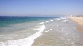 Τοπίο Καλιφόρνια Μανχάταν Μπιτς απόθεμα βίντεο