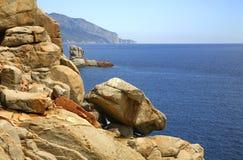 Τοπίο κοντά σε Arbatax Σαρδηνία Ιταλία Στοκ Φωτογραφίες
