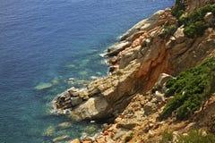 Τοπίο κοντά σε Arbatax Σαρδηνία Ιταλία Στοκ εικόνες με δικαίωμα ελεύθερης χρήσης