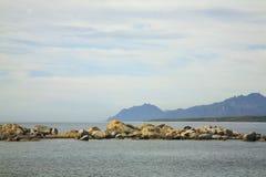 Τοπίο κοντά σε Arbatax Σαρδηνία Ιταλία Στοκ φωτογραφία με δικαίωμα ελεύθερης χρήσης