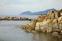 Τοπίο κοντά σε Arbatax Σαρδηνία Ιταλία Στοκ Εικόνες