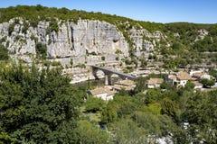 Τοπίο κοντά σε Balazuc, Γαλλία Στοκ Εικόνες