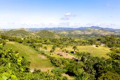 Τοπίο κοντά σε Manicaragua, Κούβα Στοκ Φωτογραφία