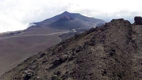 Τοπίο κρατήρων από Etna το βουνό Στοκ Εικόνα