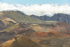 Τοπίο κρατήρων του ηφαιστείου Haleakala σε Maui Στοκ εικόνα με δικαίωμα ελεύθερης χρήσης