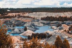 Τοπίο Λατομείο αργίλου για την εξαγωγή του αργίλου Στοκ εικόνες με δικαίωμα ελεύθερης χρήσης