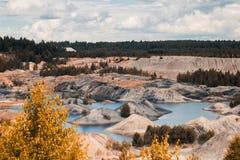 Τοπίο Λατομείο αργίλου για την εξαγωγή του αργίλου Στοκ Εικόνες