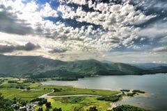 τοπίο λιμνών της Αγγλίας π&eps Στοκ Φωτογραφίες