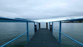 Τοπίο λιμνών της Γενεύης στο χρόνο ημέρας απόθεμα βίντεο