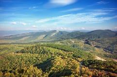Τοπίο λόφων φθινοπώρου βουνών παράδεισος φύσης στοιχείων σχεδίου σύνθεσης Στοκ Φωτογραφίες