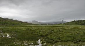 Τοπίο μέσα στο πέρασμα της διαδρομής βοοειδών Στοκ εικόνα με δικαίωμα ελεύθερης χρήσης