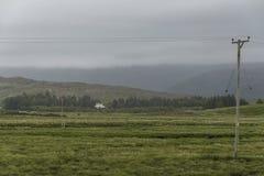 Τοπίο μέσα στο πέρασμα της διαδρομής βοοειδών Στοκ Εικόνα