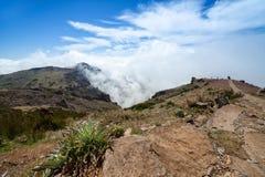 Τοπίο Μαδέρα, Pico do Arieiro βουνών Στοκ Εικόνες
