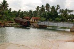 Τοπίο μετα-τσουνάμι στη Σρι Λάνκα Στοκ Φωτογραφία