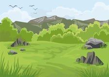 Τοπίο με τα βουνά Στοκ φωτογραφία με δικαίωμα ελεύθερης χρήσης