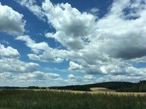 Τοπίο με τα σύννεφα Στοκ Φωτογραφία