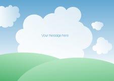 Τοπίο με τα σύννεφα Στοκ φωτογραφία με δικαίωμα ελεύθερης χρήσης