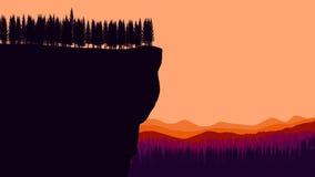 Τοπίο με τα τεράστια βουνά Στοκ Εικόνες
