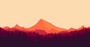 Τοπίο με τα τεράστια βουνά Στοκ φωτογραφία με δικαίωμα ελεύθερης χρήσης