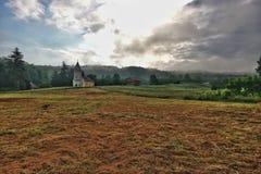 Τοπίο με την εκκλησία Στοκ Φωτογραφίες