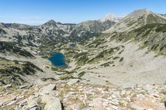 Τοπίο με τη μακριά λίμνη, βουνό Pirin, Βουλγαρία Στοκ Εικόνα