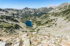 Τοπίο με τη μακριά λίμνη, βουνό Pirin, Βουλγαρία Στοκ εικόνα με δικαίωμα ελεύθερης χρήσης