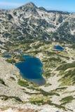 Τοπίο με τη μακριά λίμνη, βουνό Pirin, Βουλγαρία Στοκ φωτογραφία με δικαίωμα ελεύθερης χρήσης