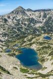 Τοπίο με τη μακριά λίμνη, βουνό Pirin, Βουλγαρία Στοκ εικόνες με δικαίωμα ελεύθερης χρήσης