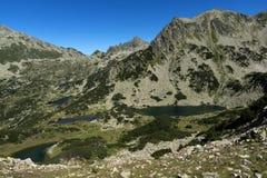 Τοπίο με τις chukar λίμνες αιχμών και Prevalski Valyavishki, βουνό Pirin, Βουλγαρία στοκ φωτογραφίες με δικαίωμα ελεύθερης χρήσης