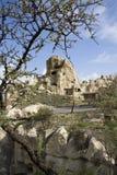 Τοπίο με τους βράχους σε Kappadokia, Τουρκία Στοκ Φωτογραφίες