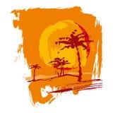 Ήλιος, άμμος, φοίνικας Στοκ φωτογραφία με δικαίωμα ελεύθερης χρήσης