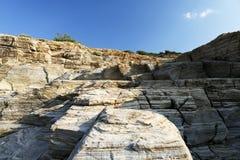 Τοπίο με το νερό και βράχοι στο νησί Thassos, Ελλάδα Στοκ Εικόνες