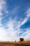 Τοπίο με το σαλέ βουνών Στοκ φωτογραφίες με δικαίωμα ελεύθερης χρήσης