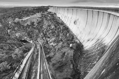 Τοπίο με το φράγμα στην Ισπανία Λα Almendra Arribes del Duero Στοκ Φωτογραφίες