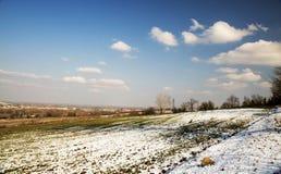 Τοπίο με το χιόνι Στοκ εικόνες με δικαίωμα ελεύθερης χρήσης