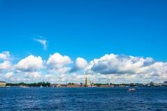 Τοπίο με το Peter και το φρούριο του Paul, Άγιος Πετρούπολη Στοκ εικόνα με δικαίωμα ελεύθερης χρήσης