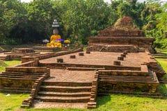 Τοπίο με Wiang Kum Kam, η αρχαία πόλη κοντά σε Chiang Mai Στοκ Φωτογραφία