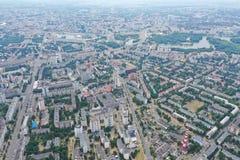 Τοπίο Μινσκ Λευκορωσία πόλεων του ψηφιακού copter στοκ φωτογραφίες