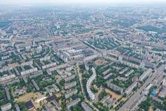 Τοπίο Μινσκ Λευκορωσία πόλεων του ψηφιακού copter στοκ εικόνες