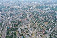 Τοπίο Μινσκ Λευκορωσία πόλεων του ψηφιακού copter στοκ φωτογραφία