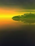 Τοπίο νησιών φαντασίας διανυσματική απεικόνιση