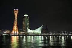 Τοπίο νύχτας πύργων της Ιαπωνίας Kobe Στοκ φωτογραφία με δικαίωμα ελεύθερης χρήσης