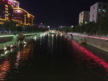 τοπίο νύχτας της Κίνας στοκ φωτογραφία